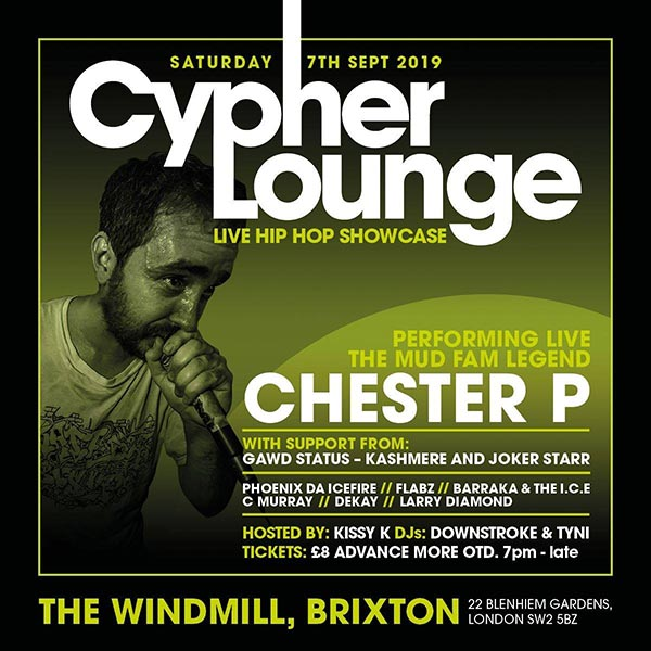 The Cypher Lounge at The Windmill Brixton on Sat 7th September 2019 Flyer