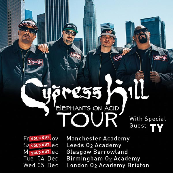 Cypress Hill at Brixton Academy on Wed 5th December 2018 Flyer