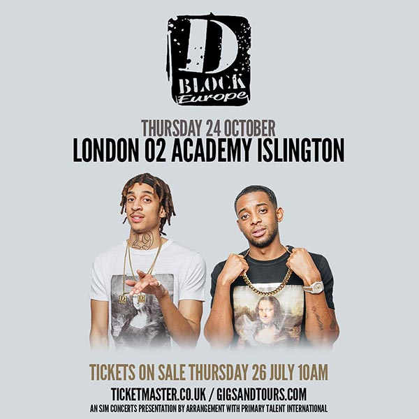 D Block Europe at Islington Academy on Wednesday 24th October 2018 Flyer