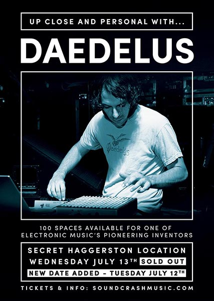 Daedelus at Trapeze on Tuesday 12th July 2016 Flyer