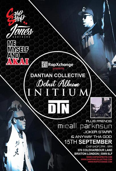Dantian Collective at Chip Shop BXTN on Sun 15th September 2019 Flyer