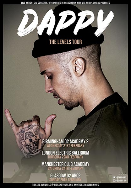 Dappy at Electric Ballroom on Thu 22nd February 2018 Flyer