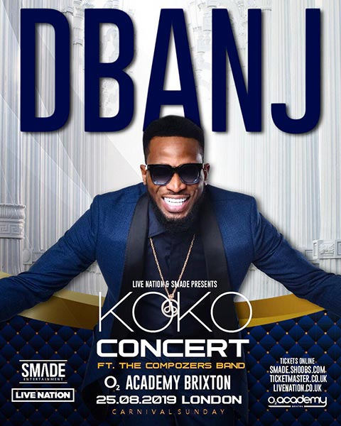 D'banj & the Compozers at Brixton Academy on Sun 25th August 2019 Flyer