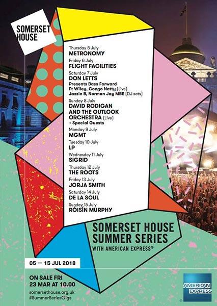 De La Soul at Somerset House on Sat 14th July 2018 Flyer