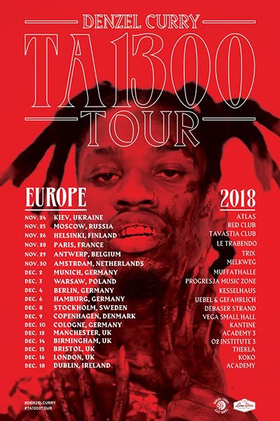 Denzel Curry  at KOKO on Sun 16th December 2018 Flyer