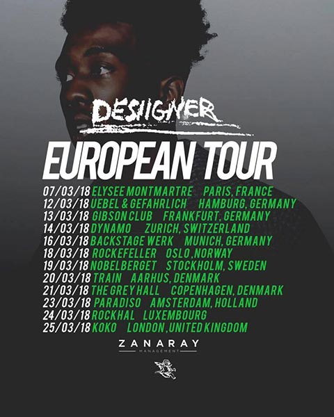 Desiigner at Finsbury Park on Sunday 25th March 2018 Flyer