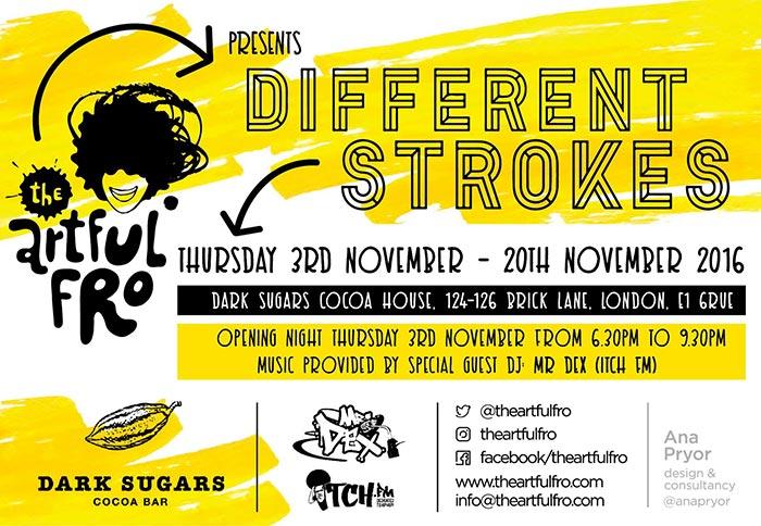 Different Strokes at Hoxton Bar & Kitchen on Thursday 3rd November 2016 Flyer