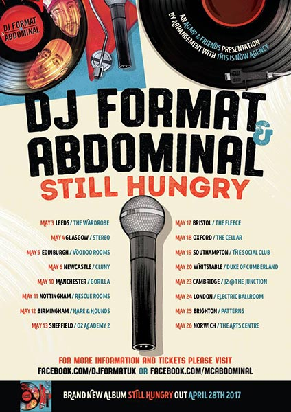 DJ Format & Abdominal at Islington Assembly Hall on Wednesday 24th May 2017 Flyer
