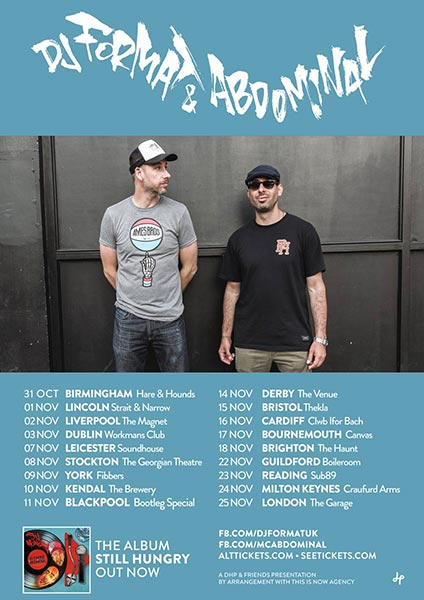 Dj Format & Abdominal at Finsbury Park on Saturday 25th November 2017 Flyer