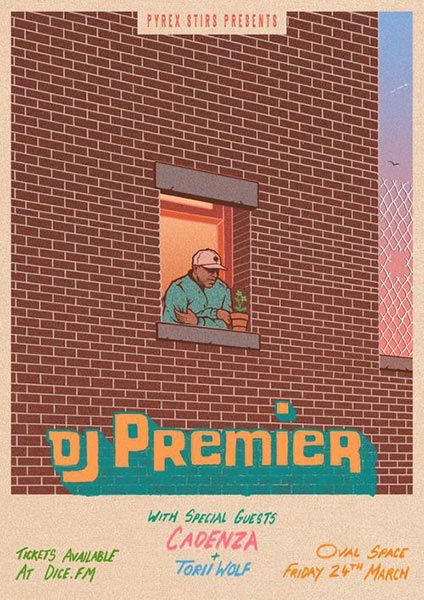 DJ Premier at Oval Space on Fri 24th March 2017 Flyer
