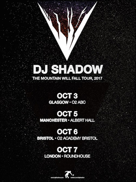 DJ Shadow at The Roundhouse on Sat 7th October 2017 Flyer