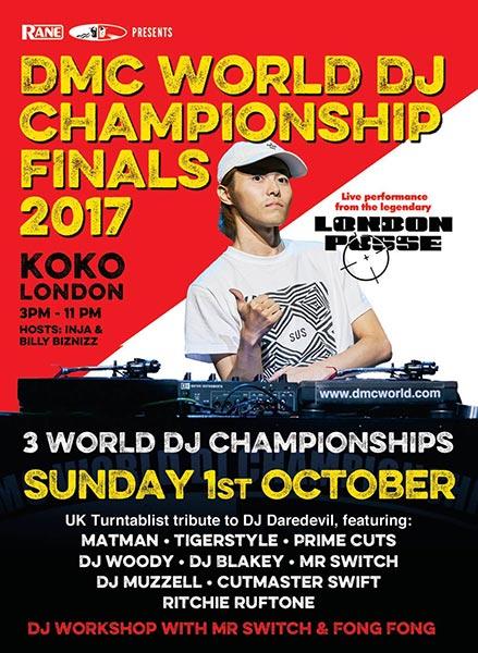 2017 DMC World DJ Championships at KOKO on Sun 1st October 2017 Flyer