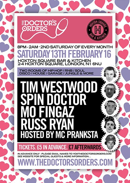 Doctors Orders Tim Westwood February Flyer 2016