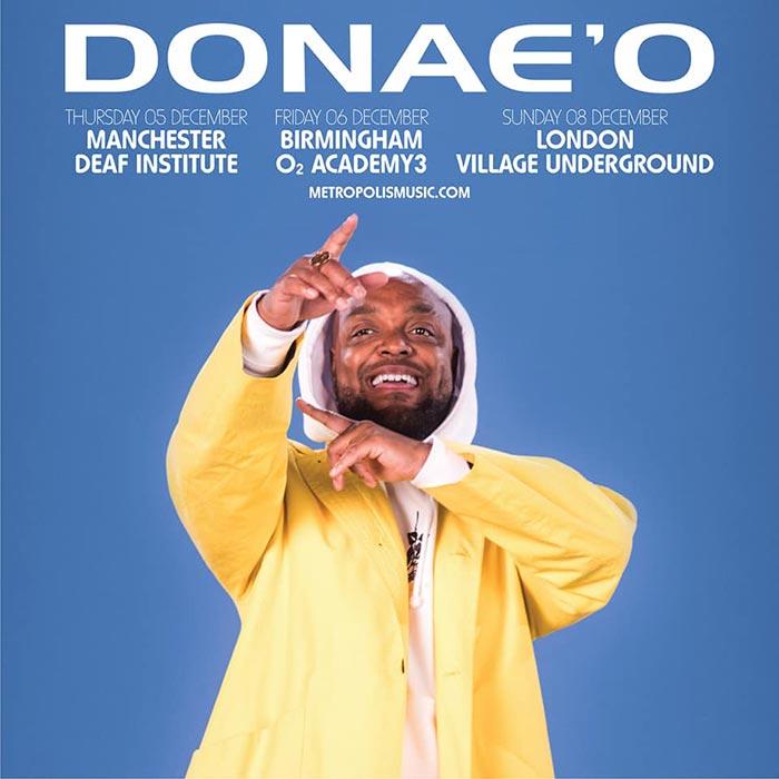 Donae'O at Village Underground on Sun 8th December 2019 Flyer