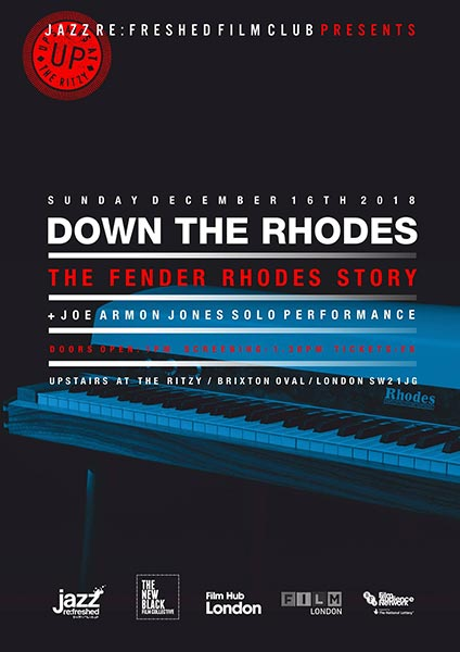 Down The Rhodes at The Ritzy on Sun 16th December 2018 Flyer