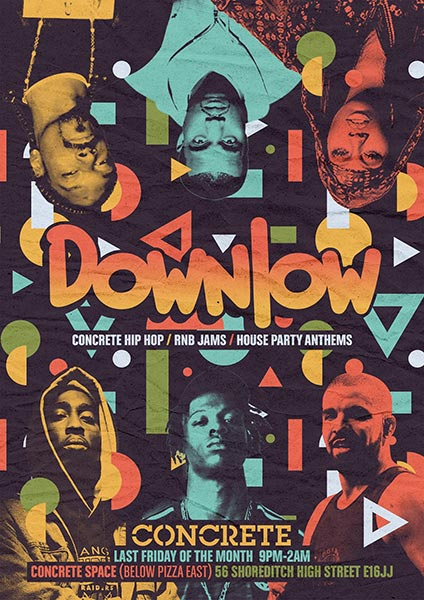 Downlow at Concrete on Friday 25th May 2018 Flyer