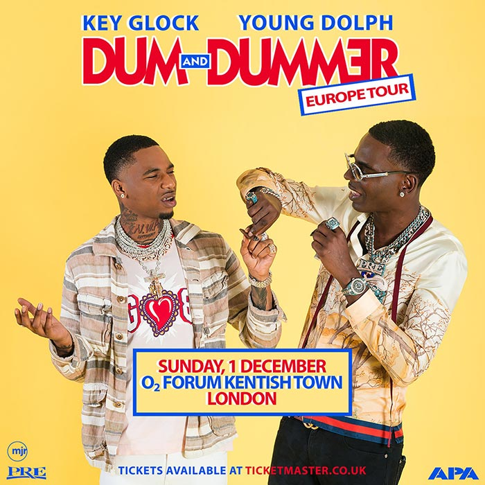 Young Dolph & Key Glock at The Forum on Sunday 1st December 2019 Flyer