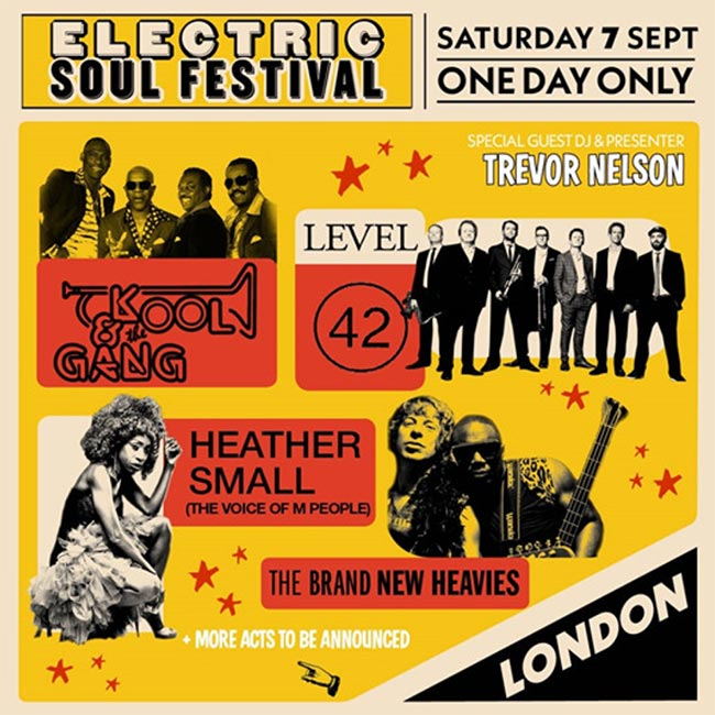 Electric Soul Festival at The o2 on Sat 7th September 2019 Flyer