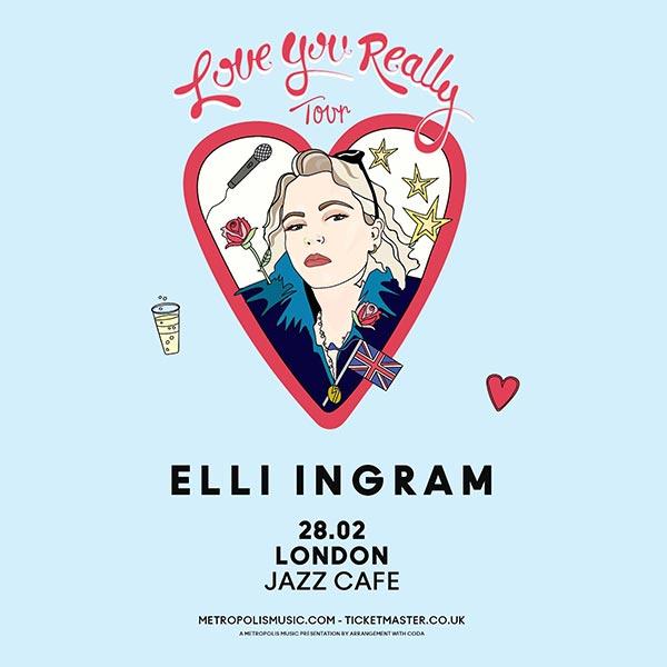 Elli Ingram at Jazz Cafe on Thu 1st February 2018 Flyer