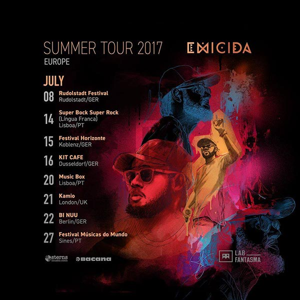 Emicida at Kamio on Fri 21st July 2017 Flyer