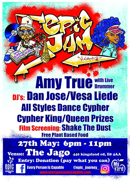 EPIC Jam at The Jago on Mon 27th May 2019 Flyer