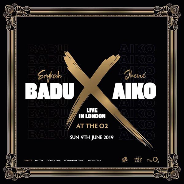 Badu X Aiko at The o2 on Sun 9th June 2019 Flyer
