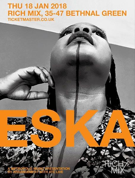Eska  at Rich Mix on Thu 18th January 2018 Flyer