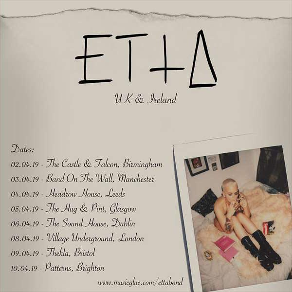 Etta Bond at Village Underground on Mon 8th April 2019 Flyer