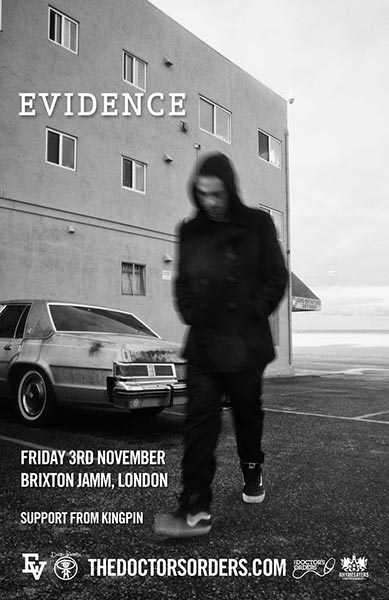 Evidence (Dilated Peoples) at Brixton Jamm on Fri 3rd November 2017 Flyer