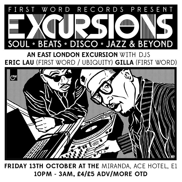 Excursions at Ace Hotel on Fri 13th October 2017 Flyer