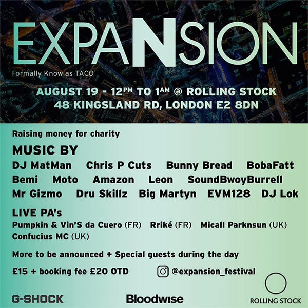 Expansion at Rolling Stock on Sun 19th August 2018 Flyer