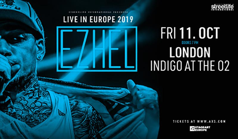Ezhel at Indigo2 on Fri 11th October 2019 Flyer