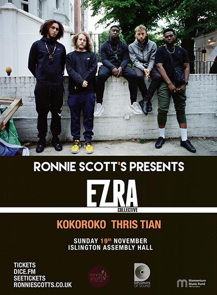 Ezra Collective at Finsbury Park on Sunday 19th November 2017 Flyer