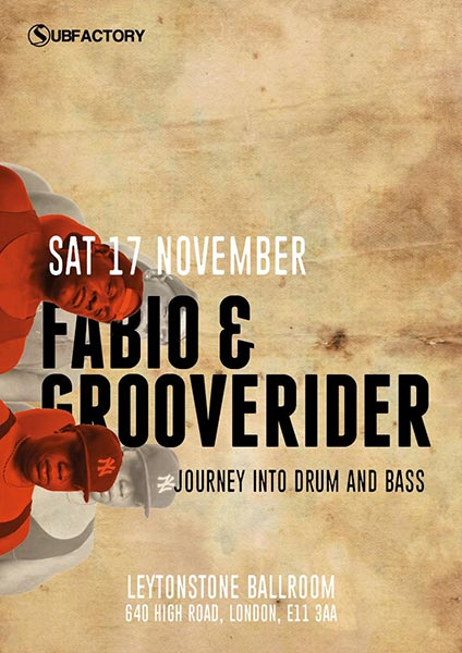 Fabio & Grooverider at The Red Lion on Sat 17th November 2018 Flyer