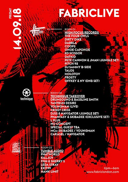 Fabriclive at Fabric on Fri 14th September 2018 Flyer
