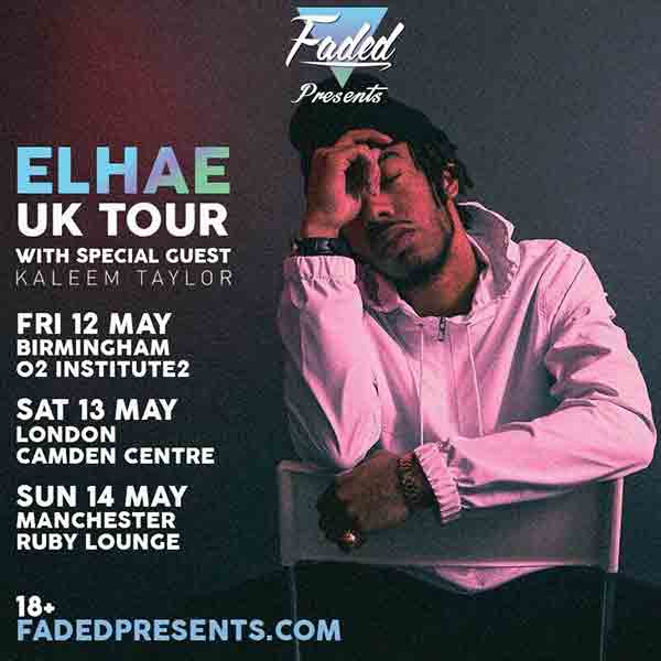 Elhae UK Tour at Camden Centre on Sat 13th May 2017 Flyer