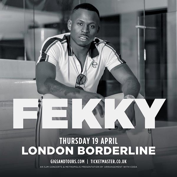Fekky at Borderline on Thu 19th April 2018 Flyer