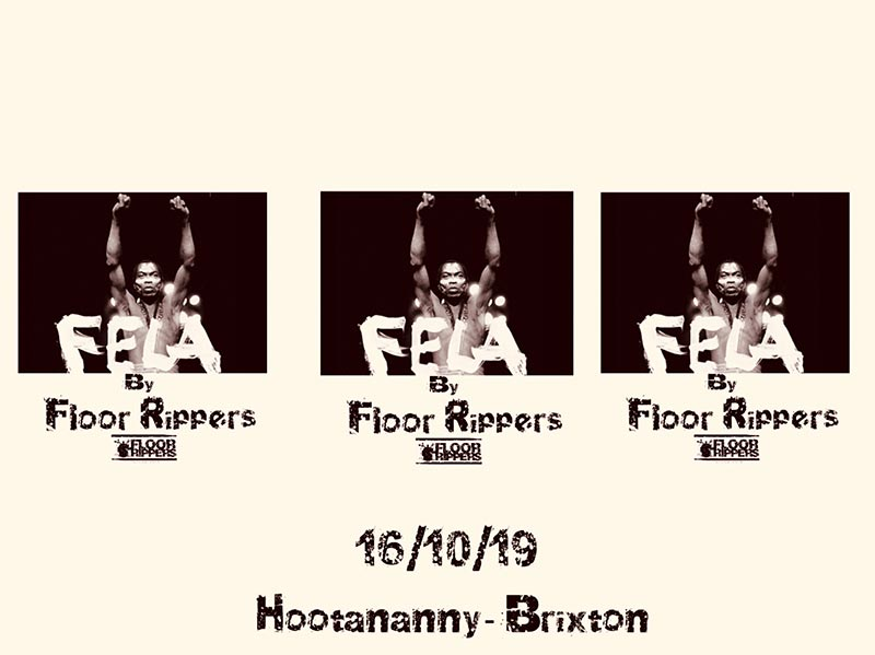 Floor Rippers Element Jam at Hootananny on Wed 16th October 2019 Flyer