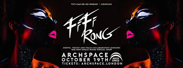 Fifi Rong - Single Launch Party at Archspace on Thu 19th October 2017 Flyer
