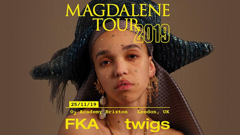 FKA Twigs at Brixton Academy on Mon 25th November 2019 Flyer