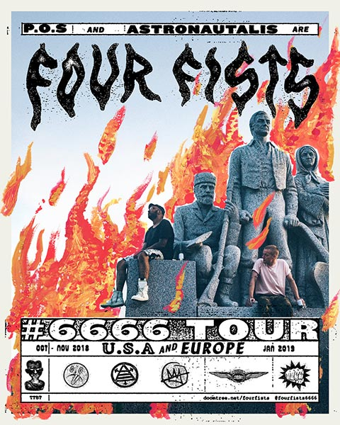 Four Fists  at Birthdays on Sat 19th January 2019 Flyer