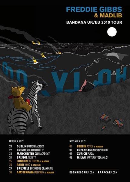Freddie Gibbs & Madlib at The Forum on Sat 26th October 2019 Flyer