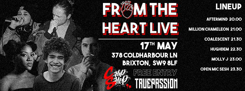 From The Heart Live at Chip Shop BXTN on Thu 17th May 2018 Flyer