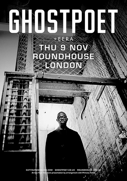 Ghostpoet at Finsbury Park on Friday 10th November 2017 Flyer