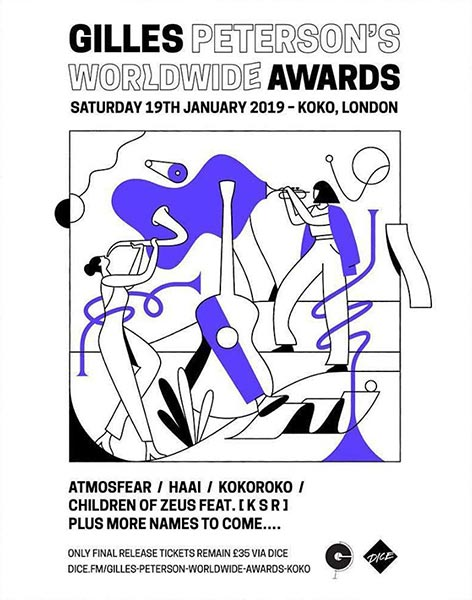 Worldwide Awards 2019 at KOKO on Sat 19th January 2019 Flyer