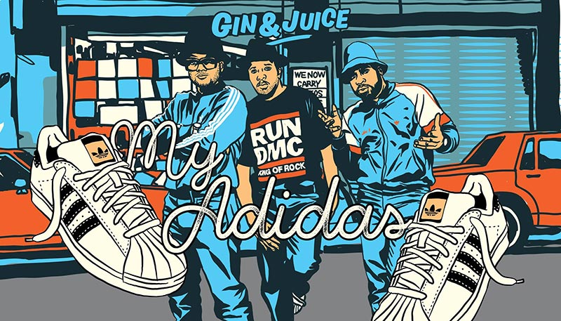 Gin & Juice : My Adidas at Horse & Groom on Sat 8th December 2018 Flyer