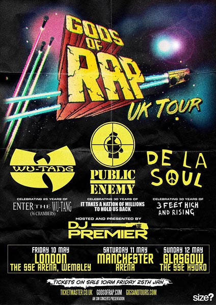 Gods of Rap at Wembley Arena on Friday 10th May 2019 Flyer