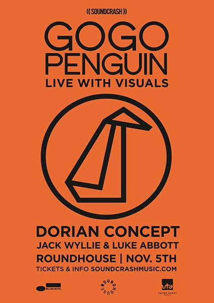GoGo Penguin at Trapeze on Saturday 5th November 2016 Flyer