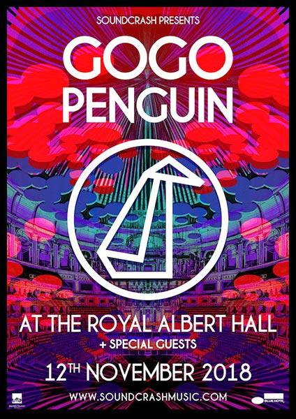 GoGo Penguin at Royal Albert Hall on Mon 12th November 2018 Flyer