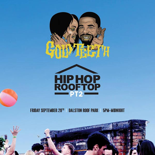 Hip-Hop On A Rooftop 2 at Dalston Roof Park on Friday 28th September 2018 Flyer